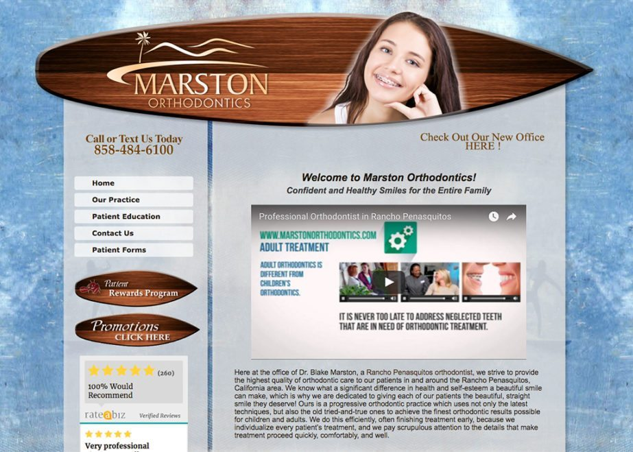 Marston orthodontic website