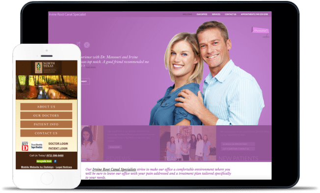 endodontic website design example
