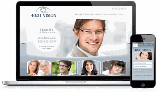 Optometry Website Design Sample