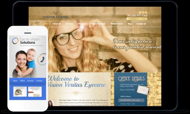 optometry website design example