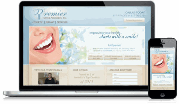 Oral Surgeon Website Example