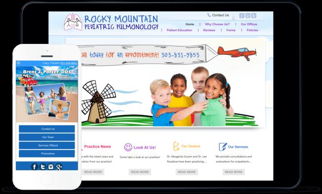WEB DESIGN For Pediatricians & Pediatric Dentists EXAMPLE