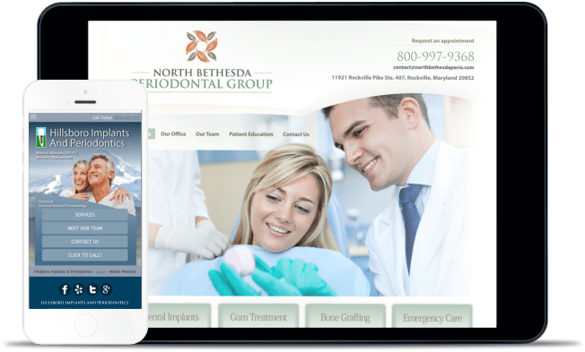 prosthodontic and prosthetic website design example