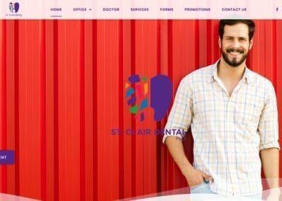 St. Claire Dental Website Screenshot