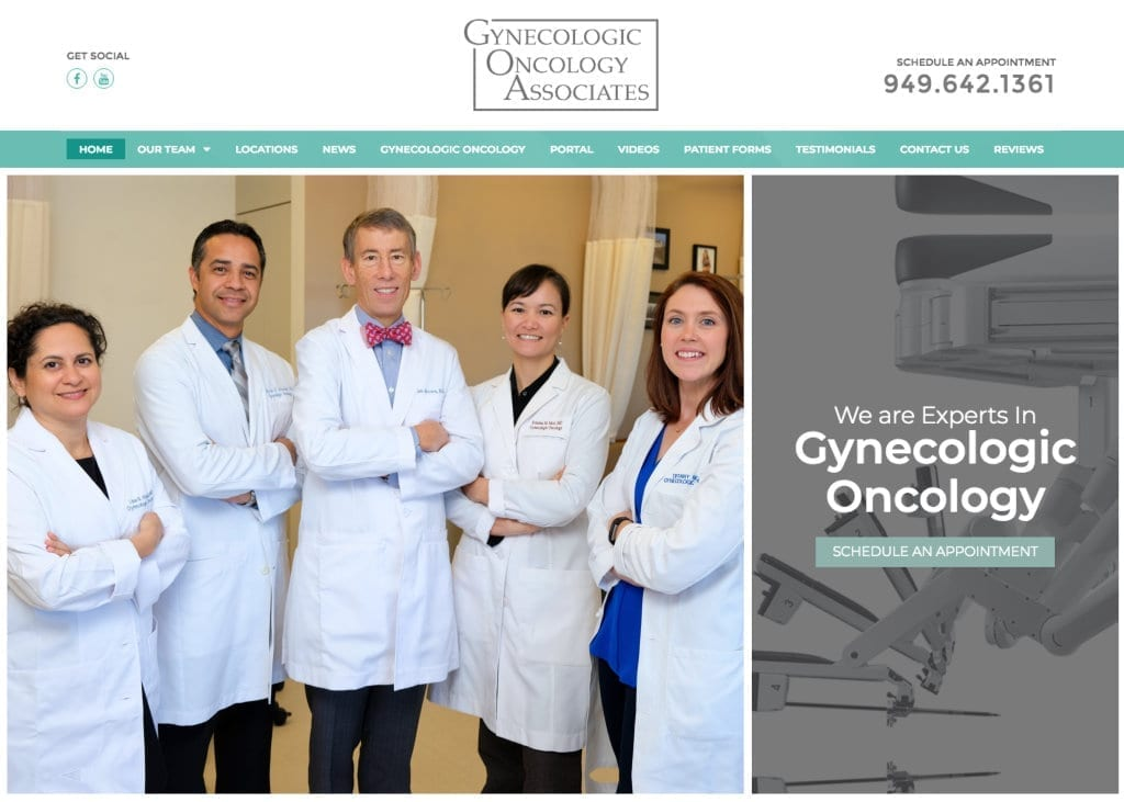 Gynecologic Oncology Associates Website Screenshot