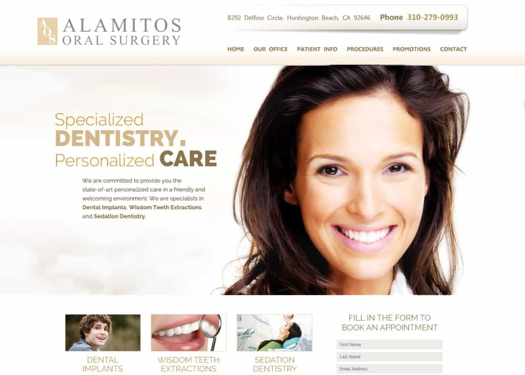 Alamitos Oral Surgery Website Screenshot