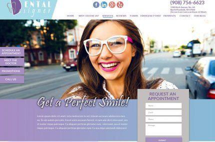 Dental Designer NJ website