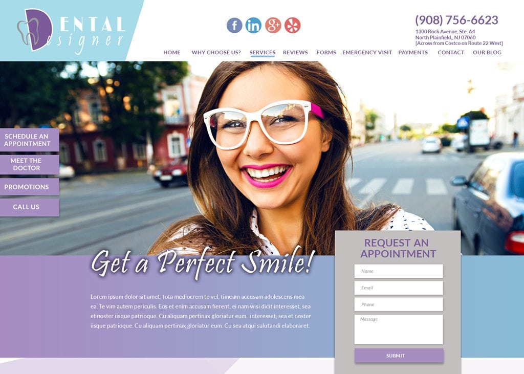 Dental Designer NJ website