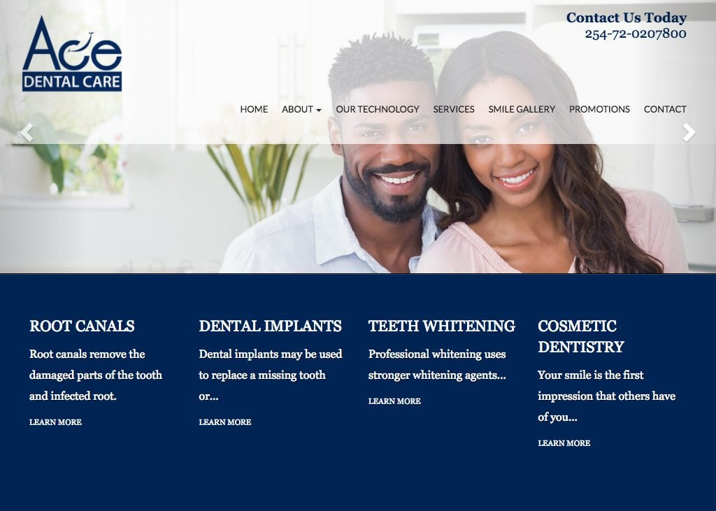Ace Dental Care Website