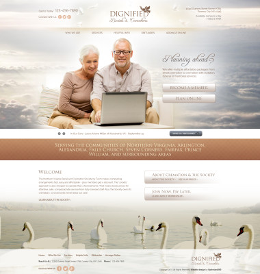 Funeral Homes Website Example Number 2