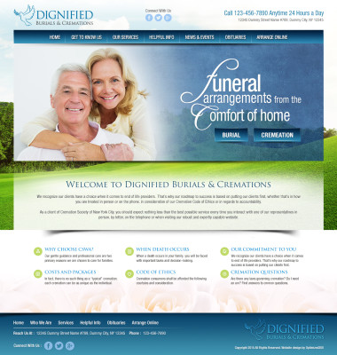 Funeral Home Website Design Example
