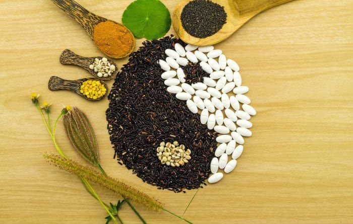 yin and yang from eastern medicinal ingredients.