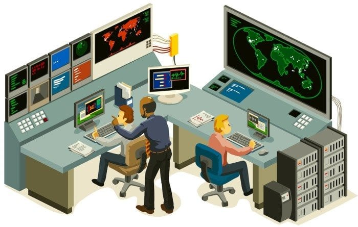 command center illustration.