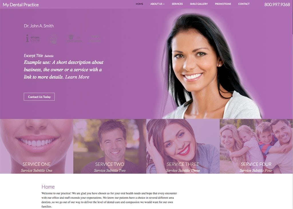 Maya Website Template