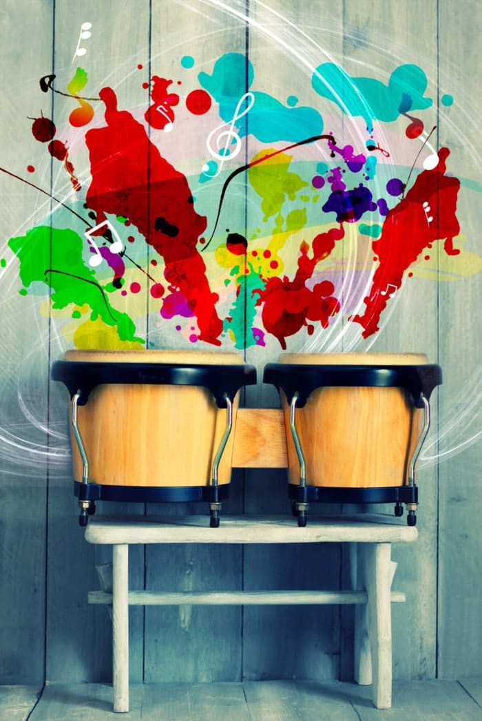 a drum that produces colors.