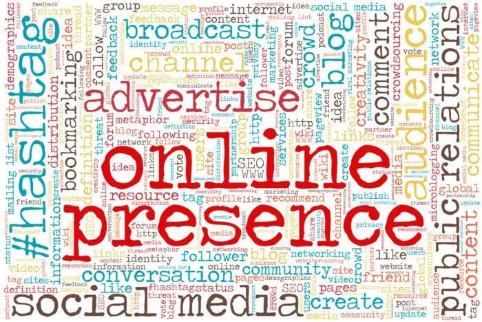 online presence text