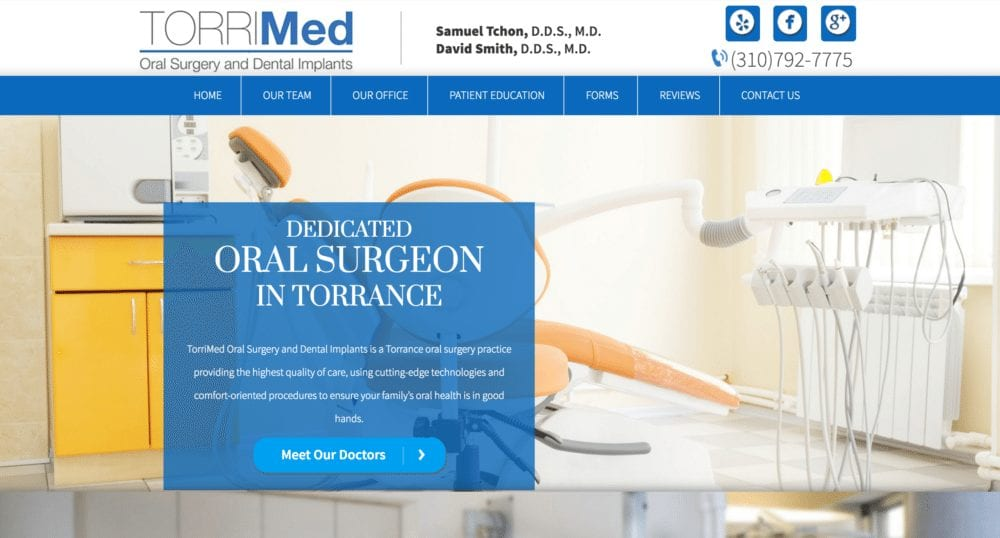 example of a specialty website by optimized360