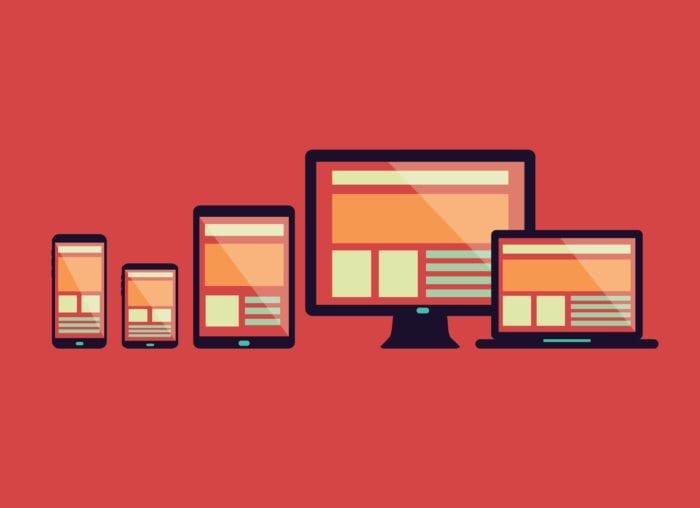 computer, tablet, Laptop, phone showing website.