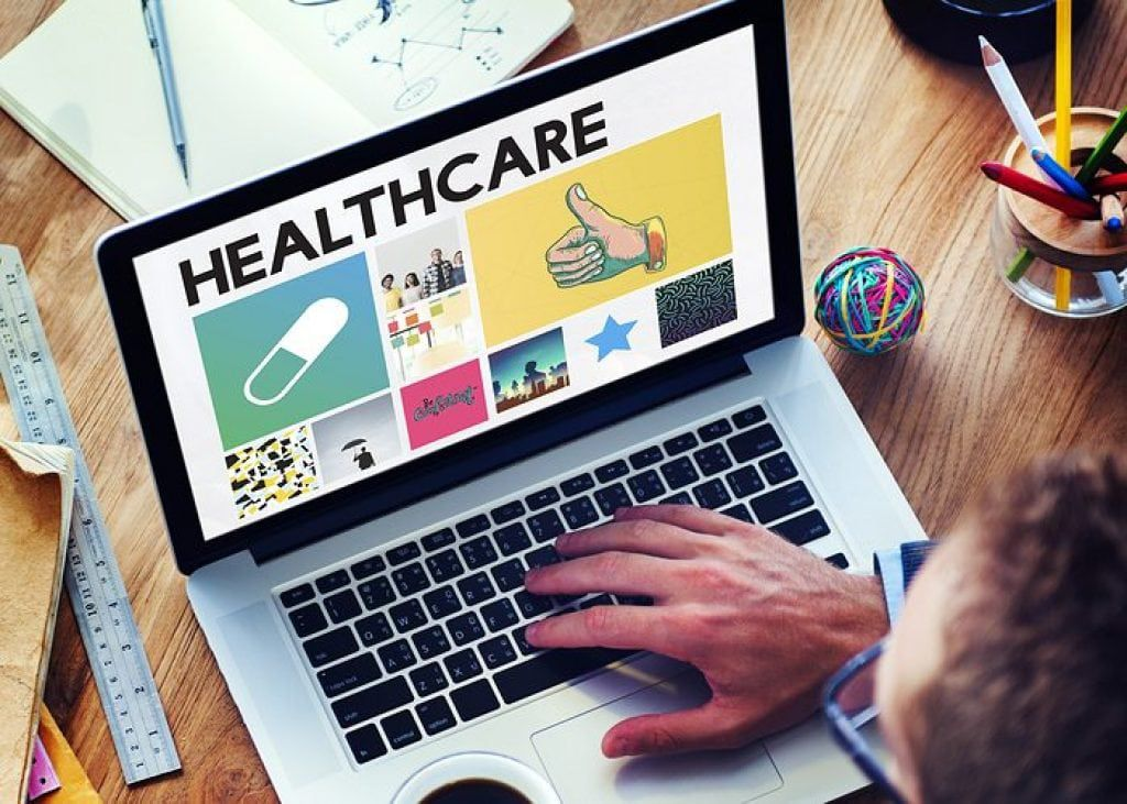 healthcare on a computer