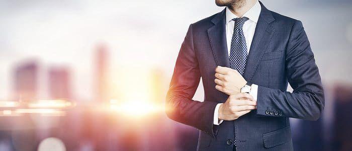 Man dress in professional suit