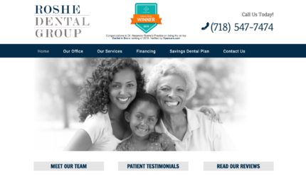 Example of a black and white website design