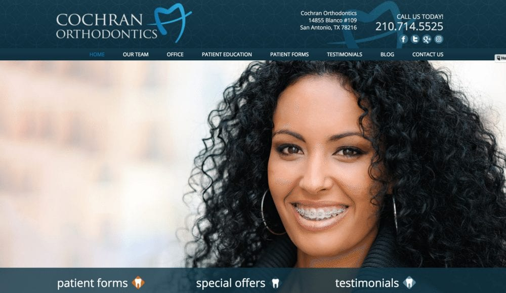 Example of an Orthodontist Website