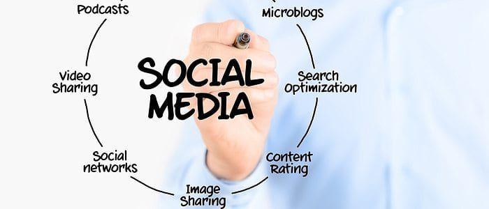 man creating a social media plan