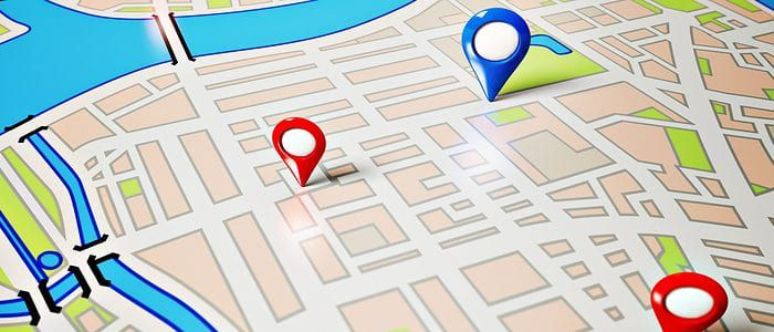 Map with points to show to localize your promotions