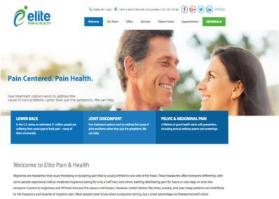elite pain and health website