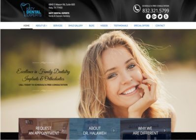 katy dental experts website