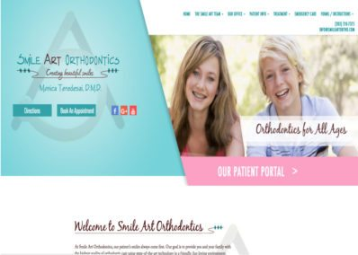 Smile Art Orthodontics website