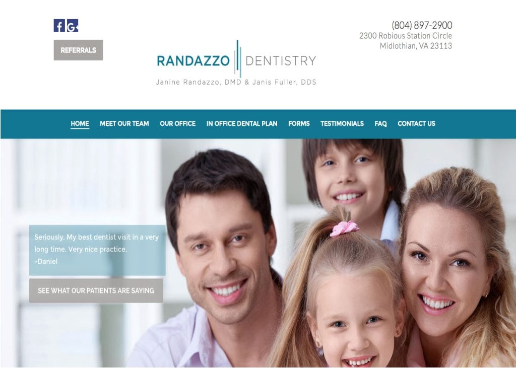 pandazzo dentistry website