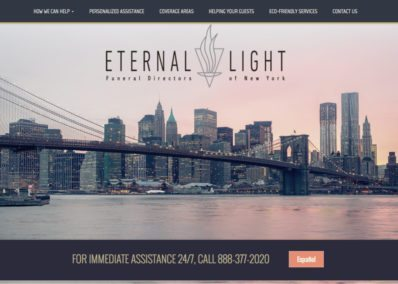 Eternal light funeral directors website