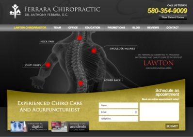 ferrera chiropractic website