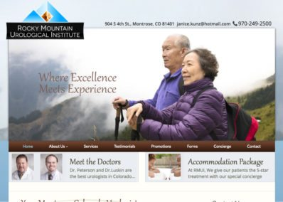 Rocky Mountain Urology website