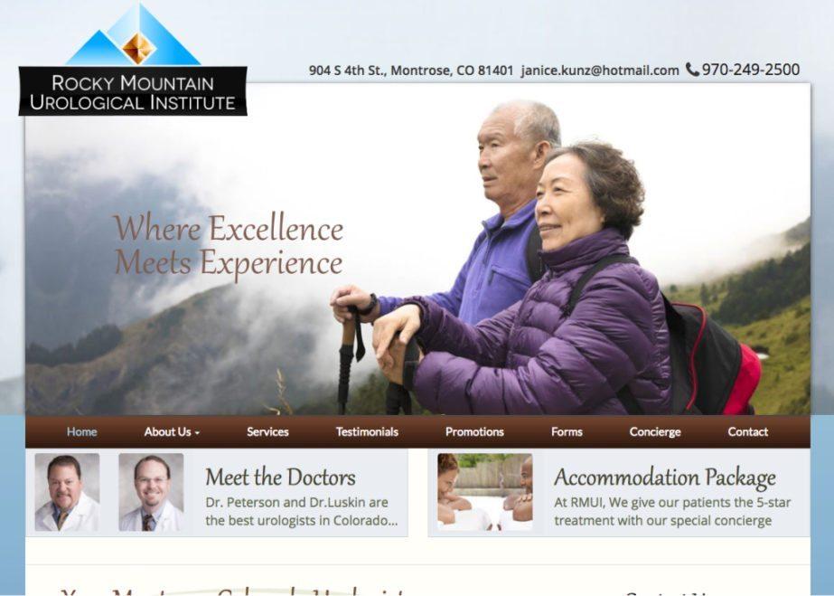 Rocky Mountain Urology website