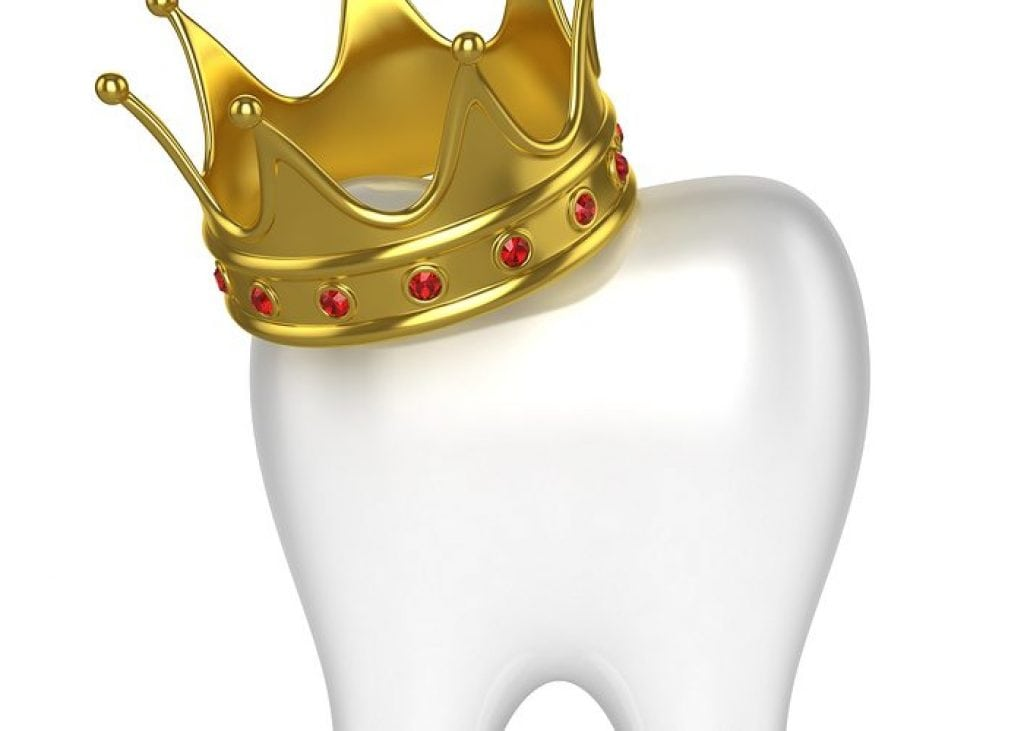 Crown on top of Dental Tooth