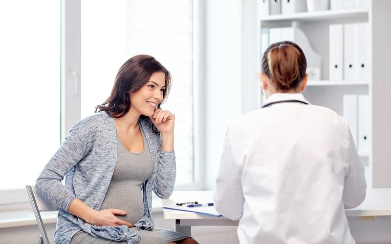 Woman happy with her OBGYN