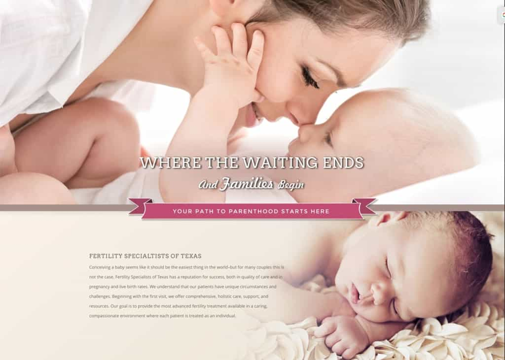 Fertility Texas Website Screenshot