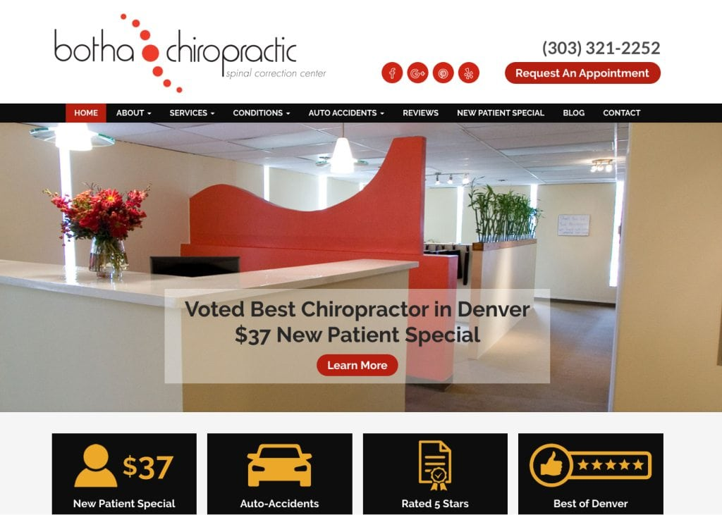 botha chiropractic website