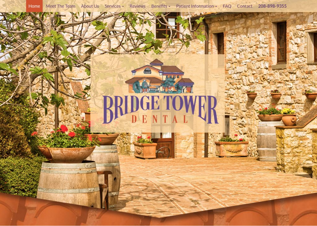 bridge tower dental website