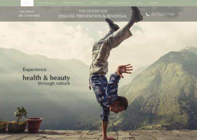 Center for Disease Prevention and Reversal Website Screenshot