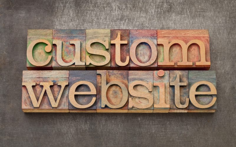 Custom Website on wooden blocks