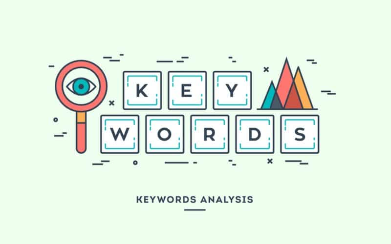 Blocks of letters that spells out Keywords