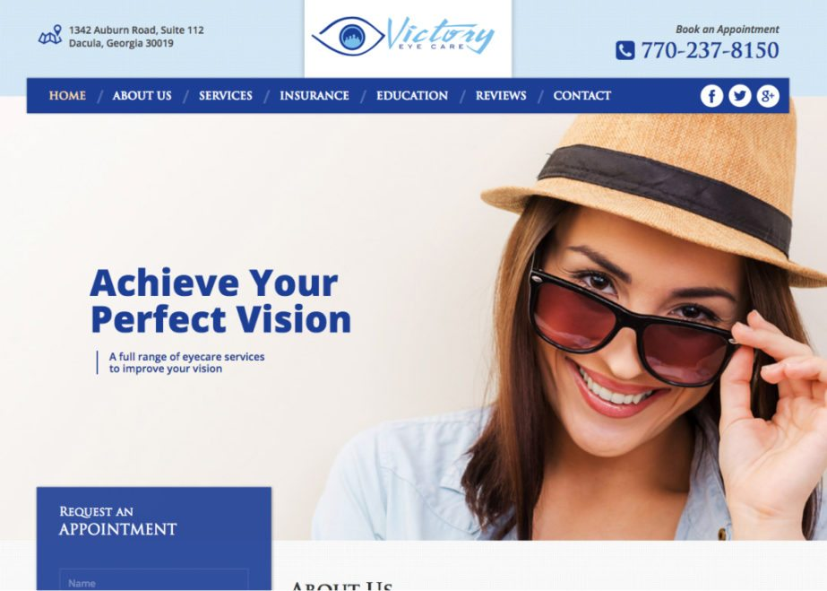victory eye care website
