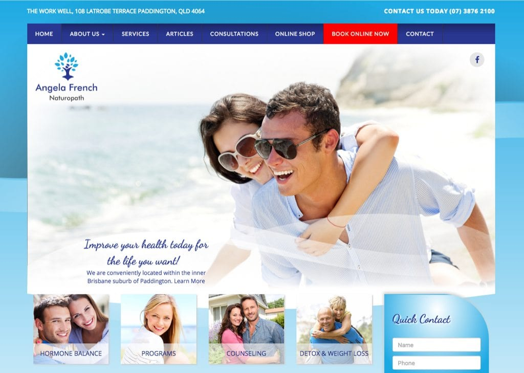 Cameron website template