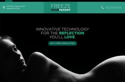 Freeze Your Fat Off Website for Dr. Bradley Bodner