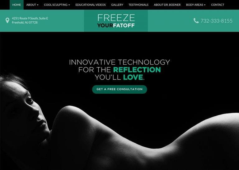 Freeze Your Fat Off Website for Dr. Bradley Bodner