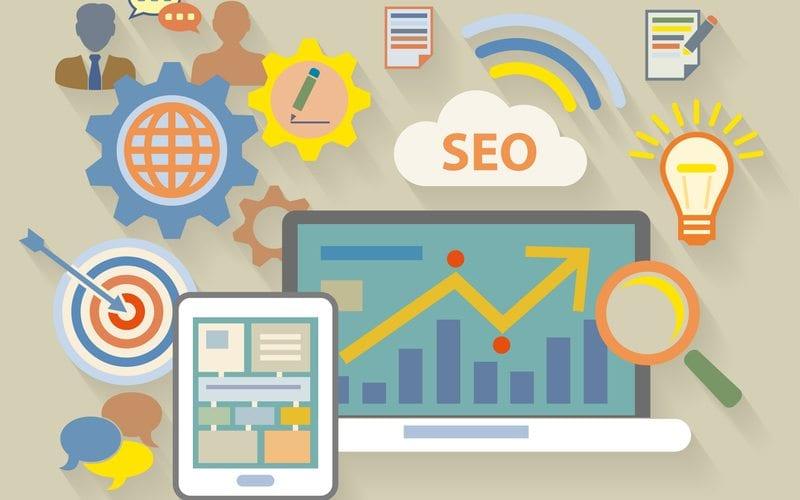 Vector image of website content