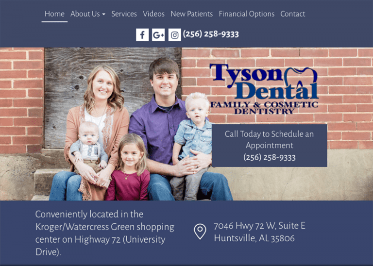 Tson Dental Website designed by Optimized360